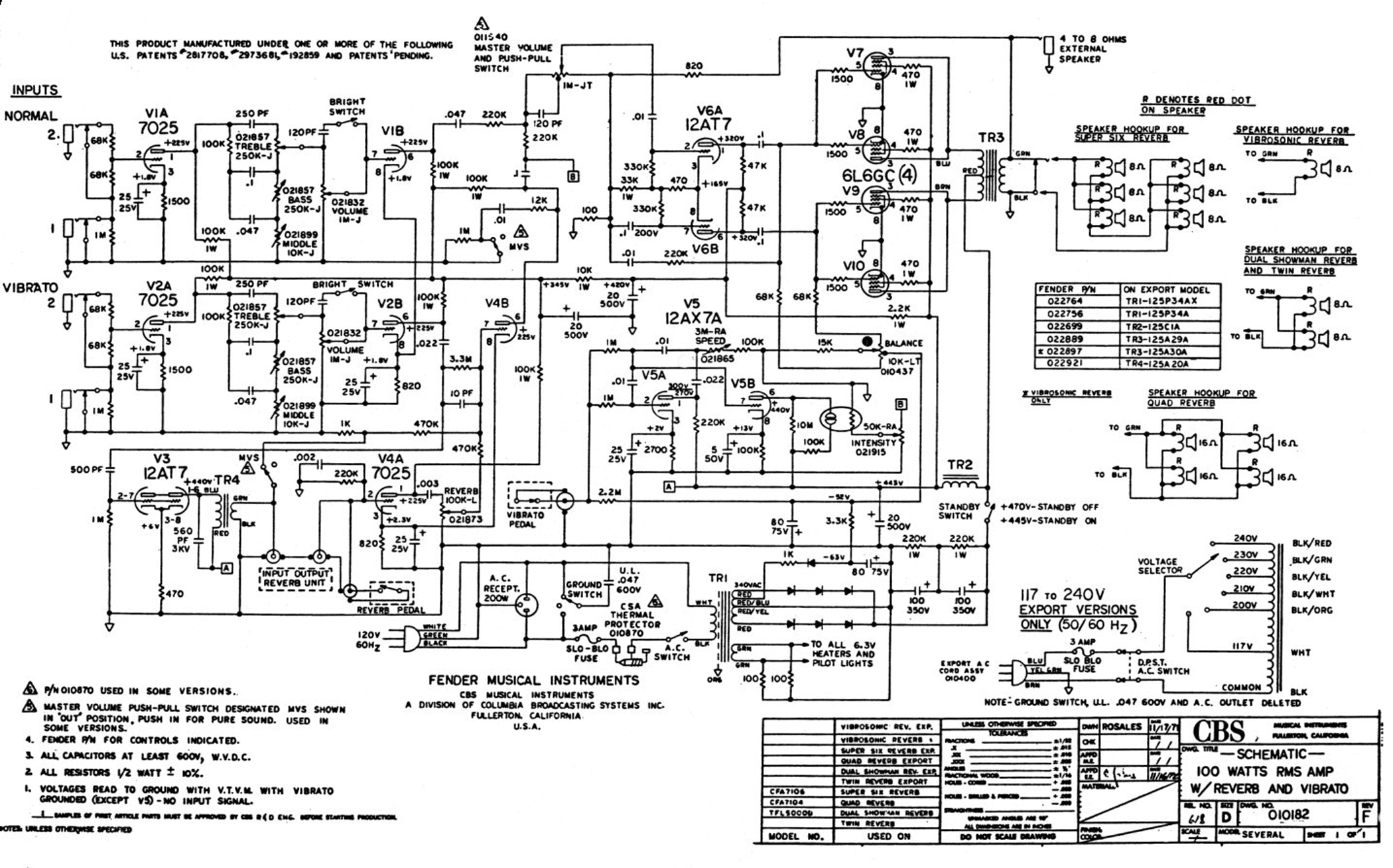 Super Six Schematic fender super six reverb ampwares fender vaporizer circuit diagram at nearapp.co