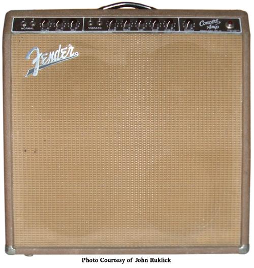 Fender Brownface Concert Ampwares
